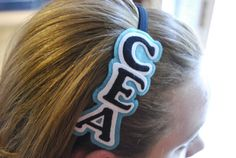 Custom School / Cheer / Sports ELASTIC Headband on Etsy, $10.00