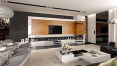 Luxury Homes Interior, Home Interior Design, New Homes, Sweet Home, House Design, Living Room, Studio, Kitchen, Furniture
