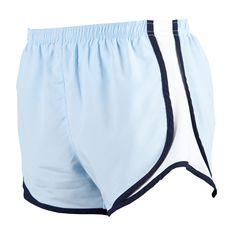 Ice Blue/Navy-White Running Shorts