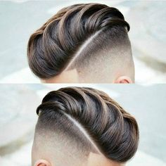 Textured Pomp Comb Over with Hard Part