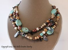 Sassy Eclectic Magnesite Necklace by MiaBellaJewelry on Etsy