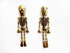 Brincos Esqueleto - Pinches Vintage