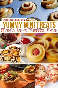 20 Recipes You Can Make in a Muffin Pan Mini Desserts, Just Desserts, Dessert Recipes, Tasty Snacks, Yummy Treats, Holiday Foods, Holiday Recipes, Muffin Pan Recipes, Bite Size Food