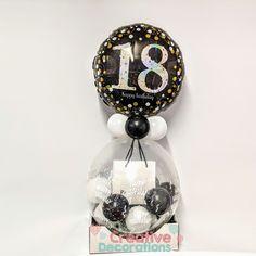 Jewelry gift balloon Balloon Stands, The Balloon, Balloon Ideas, Girl Birthday, Birthday Gifts, Happy Birthday, Stuffed Balloons, What Is Stuffing, Number Balloons