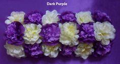Purple Blue Champagne Artificial Flower Hydrangea Mat Wedding Wall Decoration by sophieliu2 on Etsy