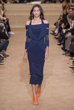 Shoulder trend from Paris fashion week. Fashion has a new body part in focus: the shoulder.