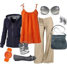 """Coal and Orange"" by annevt on Polyvore.  Love this!!"