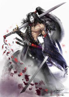 The masked samurai reaper