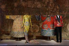 Festival robe, Yves Saint Laurent by Tom Ford evening dress, woman's court robe, and Ralph Lauren ensemble