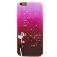 Color Painting TPU Back Case Protector for iPhone 6S/ 6 - Vivid Dandelion