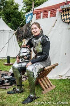 Women in Armor (ritasv: 'French Jouster Marie Baron at Arundel...)