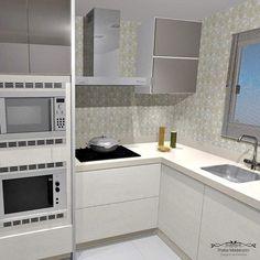 Esse projeto é para a reforma da cozinha de uma cliente. E como podem ver, eu amo ambientes neutros e bem clarinhos! 😍  #designdeinteriores #design #projeto #cozinha #kitchen