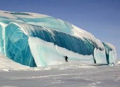 Frozen in time.  Simply stunning Frozen Tsunami wave in Antarctica