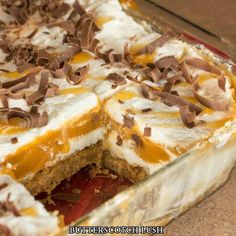 Butterscotch Lush is a 4-layer dessert of graham cracker crust, cream cheese, pudding, and whipped cream. Topped with butterscotch and chocolate shavings. Ingredients: Graham Cracker Crust 1.5 cup graham crackers, crushed 1 stick butter (1/2 cup),