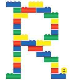 Not as fun as real lego but this one still fun to make - Letter R