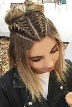 30 cute braided hairstyles for short hair # . 30 cute braided hairstyles for short hair Soft, shiny, silky and well-groom. Boxer Braids Hairstyles, Cute Braided Hairstyles, Cute Girls Hairstyles, Pretty Hairstyles, Sweet Hairstyles, Stylish Hairstyles, Natural Hairstyles, Hairstyles Pictures, Wedding Hairstyles