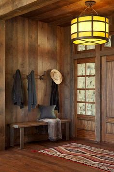 I Need is a Little Cabin in the Woods Photos) For the love of western cowboys! Love this Rustic cabinFor the love of western cowboys! Love this Rustic cabin Cabin Interior Design, Rustic Home Design, Rustic Cabin Decor, Wood Home Decor, House Design, Interior Ideas, Rustic Entry, Room Decor, Rustic Cabins