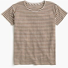J.Crew Relaxed Linen T-Shirt ($51) ❤ liked on Polyvore featuring tops, t-shirts, relaxed tee, linen tee, relaxed fit tee, j crew t shirts and loose t shirt