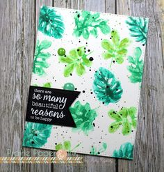 Tropical leaves are SO in this year and Amy isn't missing a beat on the card! What a lovely way to encourage someone!  https://www.simonsaysstamp.com/product/Simon-Says-Stamps-And-Dies-TROPICAL-LEAVES-Set262TL-Among-The-Stars-Set262TL/1461