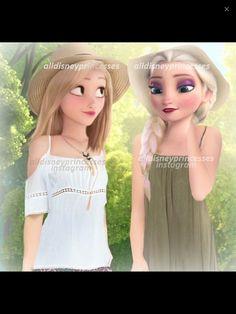 Elsa e Rapunzel  modernas