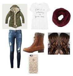 """""""Love this outfit for winter tbh❤️❄️"""" by sshultz004 on Polyvore featuring Abercrombie & Fitch, AG Adriano Goldschmied, Charlotte Russe, Sundry, BCBGMAXAZRIA and Casetify"""