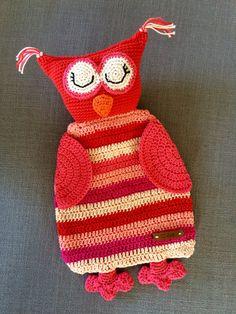 Lappenpop Van een uil gemaakt met patroon ❤️