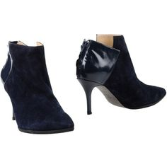 D Marra Ankle Boots ($107) ❤ liked on Polyvore featuring shoes, boots, ankle booties, dark blue, genuine leather boots, leather zipper boots, rubber sole boots, zip boots and short leather boots