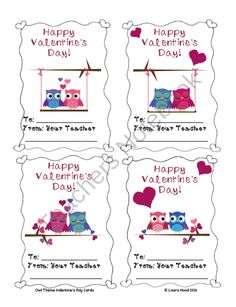 FREE Valentine's Day Teacher Cards for your Class product from blackbird77 on TeachersNotebook.com
