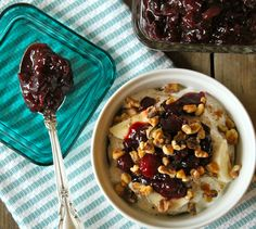 Cranberry Chutney Yogurt Parfait