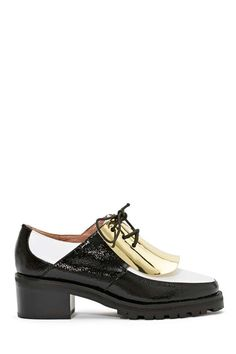 Shop now: Jeffrey Campbell Lester Plated Oxford
