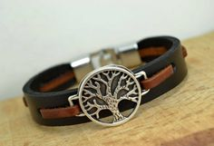 Mens Bracelet leather braceletMens Leather braceletMan