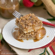 These sublime Apple Streusel Bars have the same flavors as apple pie, but with half the effort!