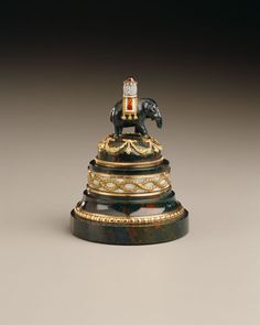 Image courtesy of Hillwood Estate, Museum and Gardens, Bell Push, attributed to Fabergé, made by Mikhail Perkhin, 1899-1903, Assay Master Ivan Lebetkin. Photo by Ed Owe