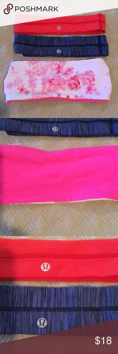 Lululemon Headband Bundle (worn once!) Cute Lululemon headband bundle. I have several of all of these and decided to let go of the ones I don't use. The blue one I never got to wear. lululemon athletica Accessories Hair Accessories