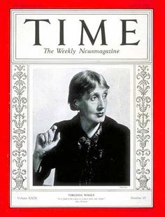 Virginia Woolf on the cover of Time Magazine in 1937. (Photo by Man Ray.)