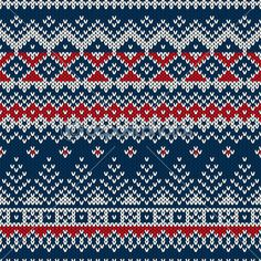Зимний праздник бесшовные трикотажные — стоковая иллюстрация #53555731