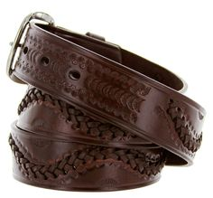 Brown Leather Western Belts