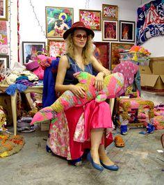 Olek in her Boerum Hill studio, photographed June 11, 2015.KATHERINE MCMAHON