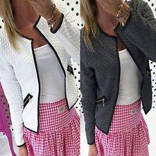 Fashion Casual Women Slim Business Blazer Suit Outwear Jacket Coat Short Coat