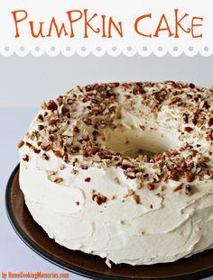 Celebrate with this homemade pumpkin cake recipe! #autumn #recipe #pumpkin #cake