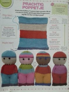 Best 12 Chavelli's breipopjes Knitted Doll Patterns, Christmas Knitting Patterns, Easy Knitting Patterns, Afghan Crochet Patterns, Knitted Dolls, Knitting Projects, Addi Knitting Machine, Loom Knitting, Knitting Stitches