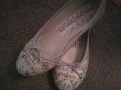 Sheet music shoes.