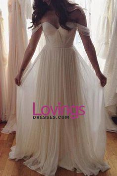 2016 Prom Dresses Off The Shoulder A Line Chiffon Floor Length With Ruffles US$ 139.99 LDPLJQJNPJ - lovingsdresses.com