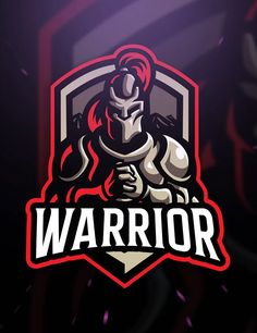 Warrior sport and Esport Logo Template by Blankids on Envato Elements Warrior Logo, Spartan Warrior, Tolle Logos, Fantasy Football Logos, Warrior Sports, Spartan Logo, Ninja Logo, Graffiti, Mobile Logo