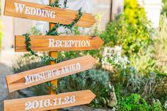 結婚式場の入り口・受付に飾るウェディングサインの作り方   marry[マリー]