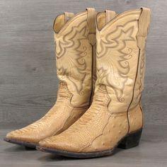 Men's El Caporal Mexican All Leather Cowboy Boots