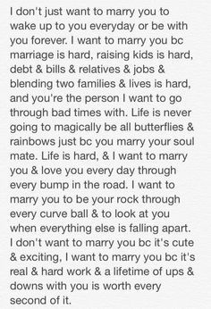 Wedding Quotes : I want to marry you because. Wedding Vows That Make You Cry, Wedding Vows To Husband, Marriage Is Hard, Love And Marriage, Marriage Thoughts, Marriage Advice, Second Marriage Quotes, Happy Marriage, Love Quotes For Him