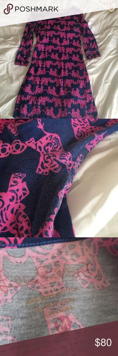 RARE Lilly Pulitzer Dress Gently loved and from a smile free home! There is some pilling around the armpits and discoloration but not noticeable when wearing. Overall in very well kept condition and perfect for any Lilly lover! Lilly Pulitzer Dresses