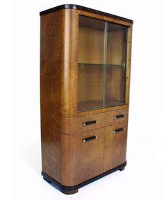 Madrone burl china cabinet - 1936 - W & J Sloane - designer Donald Deskey.