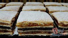 Makovo oříškové žerbó řezy Vanilla Cake, Sweet Recipes, Tiramisu, Rum, Yummy Food, Sweets, Cooking, Ethnic Recipes, Anna